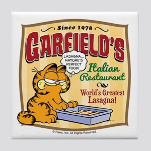 Garfield's Italian Restaurant Tile Coaster