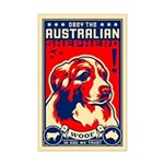 Obey the Australian Shepherd! Mini Poster Print