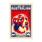 Obey the Australian Shepherd! Mini Poster Print