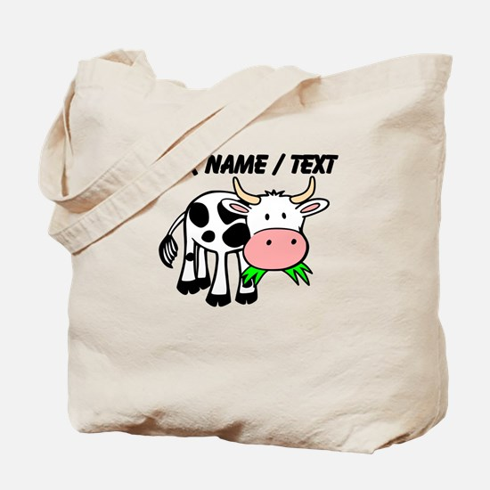 Custom Cartoon Cow Tote Bag