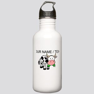 Custom Cartoon Cow Water Bottle