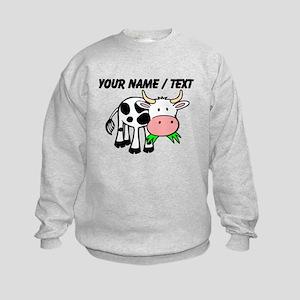 Custom Cartoon Cow Sweatshirt
