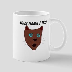 Custom Brown Cat Face Mug