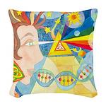 Creation Myth Woven Throw Pillow