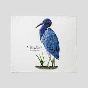 Little Blue Heron Throw Blanket