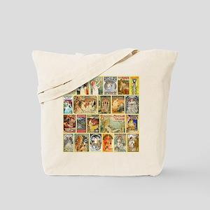 Art Nouveau Advertisements Collage Tote Bag