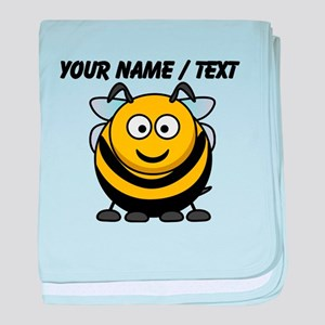 Custom Cartoon Bumble Bee baby blanket