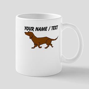 Custom Brown Daschund Mug