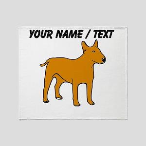 Custom English Bull Terrier Throw Blanket