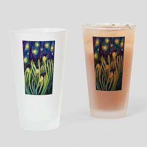 Fireflies Drinking Glass
