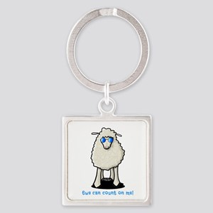 Count On Me Square Keychain