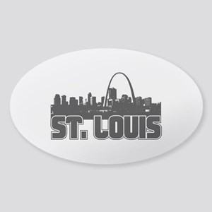 St. Louis Skyline Sticker (Oval)