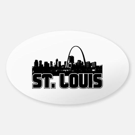 St. Louis Skyline Sticker (Oval)