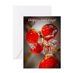 Viburnum Berries Covered with Ice Greeting Card