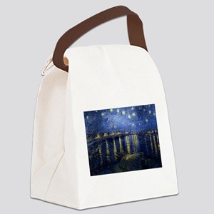 Starry Night Over the Rhone Canvas Lunch Bag