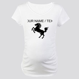 Custom Black Horse Maternity T-Shirt