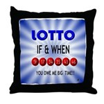 winning lotto numbers Throw Pillow