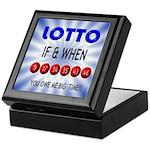 winning lotto numbers Keepsake Box