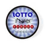 winning lotto numbers Wall Clock