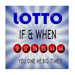 winning lotto numbers Tile Coaster