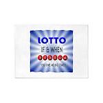 winning lotto numbers 5'x7'Area Rug
