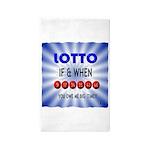 winning lotto numbers 3'x5' Area Rug