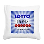 winning lotto numbers Square Canvas Pillow