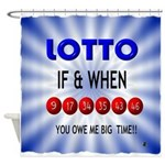 winning lotto numbers Shower Curtain