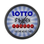 winning lotto numbers Large Wall Clock
