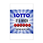 winning lotto numbers Posters