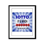winning lotto numbers Framed Panel Print