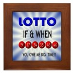 winning lotto numbers Framed Tile