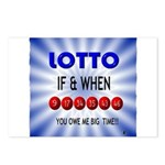 winning lotto numbers Postcards (Package of 8)