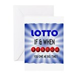winning lotto numbers Greeting Cards (Pk of 20)