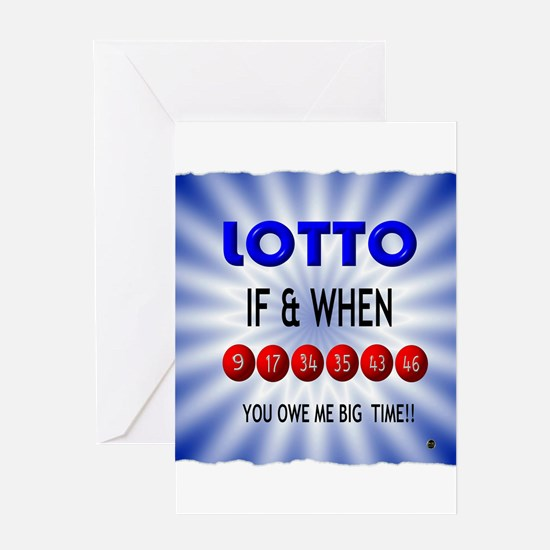 winning lotto numbers Greeting Card
