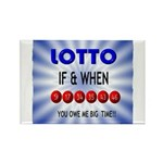 winning lotto numbers Rectangle Magnet (100 pack)