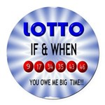 winning lotto numbers Round Car Magnet