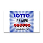 winning lotto numbers Rectangle Car Magnet