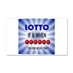 winning lotto numbers Car Magnet 20 x 12