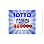 winning lotto numbers Sticker