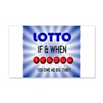 winning lotto numbers Wall Decal