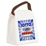 winning lotto numbers Canvas Lunch Bag