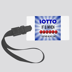 winning lotto numbers Luggage Tag