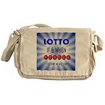 winning lotto numbers Messenger Bag