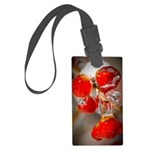 Viburnum Berries Covered with Ic Large Luggage Tag