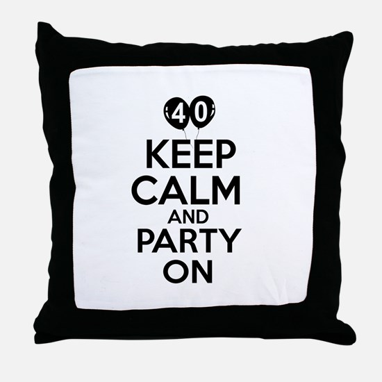 Funny 40 year old gift ideas Throw Pillow