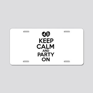 Funny 40 year old gift ideas Aluminum License Plat