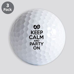 Funny 40 year old gift ideas Golf Balls