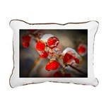 Viburnum Berries Covered Rectangular Canvas Pillow