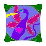 dragonsong Woven Throw Pillow
